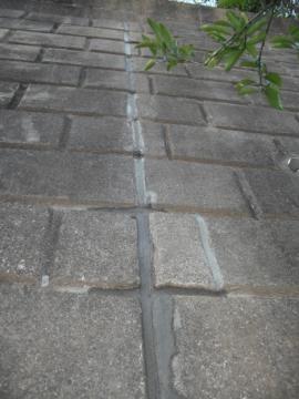 細かい隙間や割れもタイル用の目地材を使い、すべて直しました。
