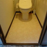 トイレのクッションフロアも貼り換えました。