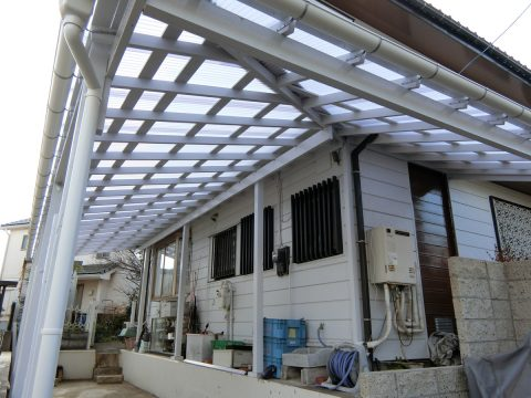 磯子区 屋根修理 駐車場波板サムネイル