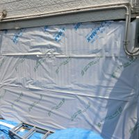 施工中 防水紙